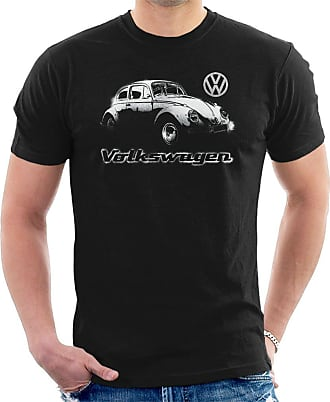 Volkswagen Beetle Spray Paint Mens T-Shirt Black