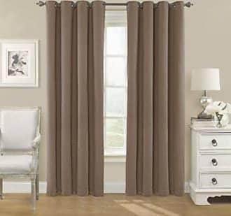 Eclipse Nadya Blackout Window Curtain Panel - Brown - Size: 52 x 95