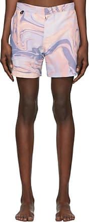 Double Rainbouu Mens Synth Uuave Swim Shorts