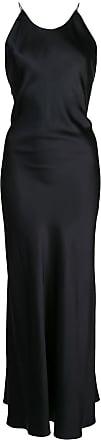 Rosetta Getty Vestido com alças posteriores cruzadas - Preto