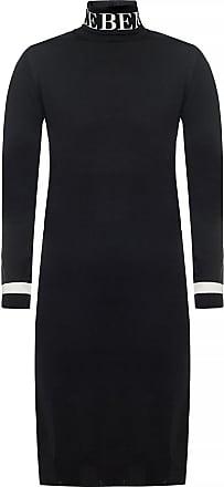 Iceberg Wool Dress With Turtleneck Sweater Womens Black