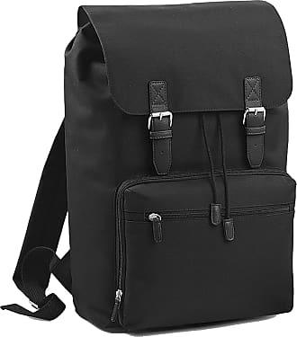 BagBase Bagbase Heritage Laptop Backpack Bag (Up To 17inch Laptop) (One Size) (Black/Black)