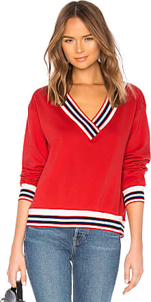 Rebecca Minkoff Kristine Stripe Sweatshirt in Red