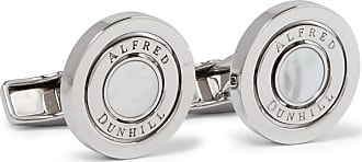 Dunhill Gyro Palladium-plated Mother-of-pearl Cufflinks - Silver