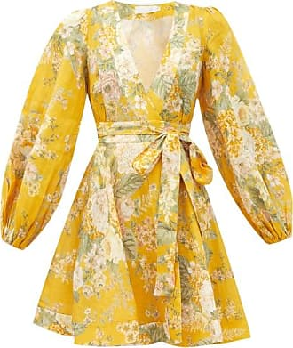 Zimmermann Amelie Floral-print Linen Sun Dress - Womens - Yellow Print