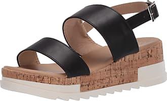 Yoki Womens BRENDA-80 Flat Sandal, Black, 5.5 UK