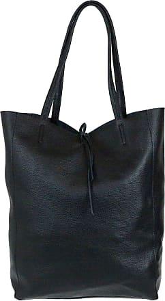 Girly HandBags Girly HandBags Open Top Genuine Leather Handbag - Black