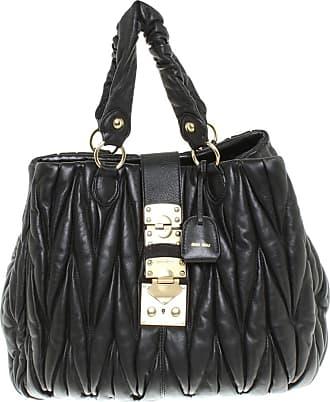 e2f76658b Miu Miu gebraucht - Leder-Handtasche in Schwarz - Damen - Leder