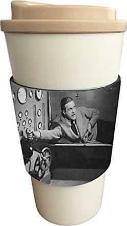 Rikki Knight Vintage Movie Posters Art Women On Moon 1 Design Latte Beverage Insulator, Black