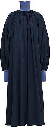 Roksanda Ilincic Roksanda Woman Cotton-poplin Turtleneck Midi Dress Navy Size 12