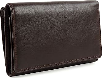 Visconti Ladies Leather Medium Flap Over Purse/Wallet Heritage Gift Boxed (Chocolate)