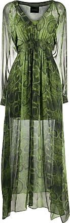 John Richmond Vestido longo mangas longas - Verde