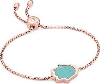 550b9be6d82abc Monica Vinader Rose Gold Atlantis Hamsa Friendship Chain Bracelet Amazonite