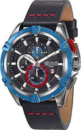 Seculus Relogio Masculino Seculus Couro Estiloso Cronografo 28931GPSVQC1