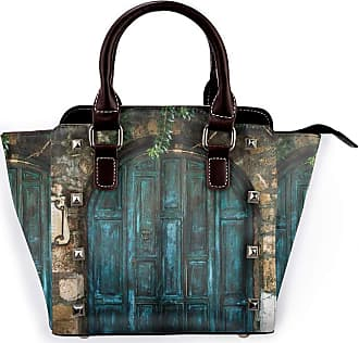 Browncin Rustic Wooden Door Surrounded By Old Rock Detachable Fashion Trend Ladies Handbag Shoulder Bag Messenger Bags