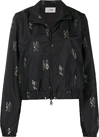 Kirin dance-embroidered bomber jacket - Black