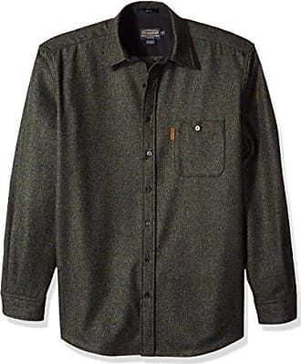 Pendleton Mens Size Long Sleeve Button Front Tall Trail Shirt, Blue/Green Mix, XXL