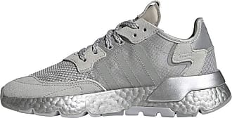 adidas Originals Womens Nite Jogger Sneaker, Grey/Grey/Silver Metallic, 5.5