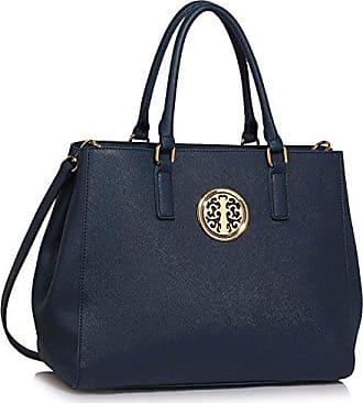 079bb753896e43 LeahWard Damen nett Schultertaschen Handtaschen Damen Essener Tragetasche  182 (Marine Tote Handtasche)