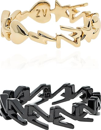 Zadig & Voltaire Set Of Two Rings Womens Gold