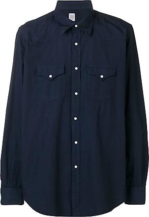 Eleventy Camisa com colarinho pontiagudo - Azul