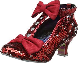 Irregular Choice Womens Total Freedom T-Bar Heels, Red (Red A), 7.5 UK 41 EU