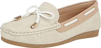 Lotus Hannah Womens Moccasin Boat Shoes 4 UK Natural