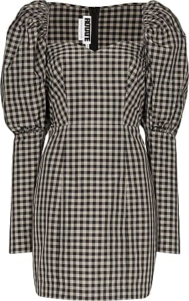 Rotate gingham mini dress - Black