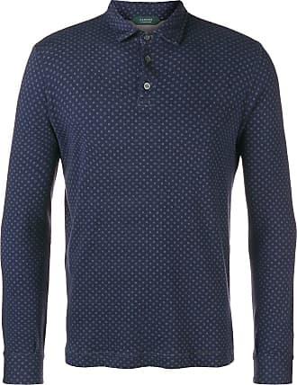 Zanone Camisa polo com poás - Azul