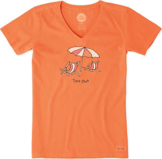 b6f423cf46f098 Life is good Womens Time Out At The Beach Crusher Vee XXXL Tropical Orange