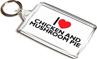 ILoveGifts KEYRING - I Love Chicken And Mushroom Pie - Novelty Food & Drink Gift