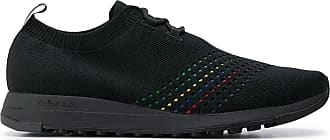 Paul Smith knitted logo patch detail sneakers - Preto