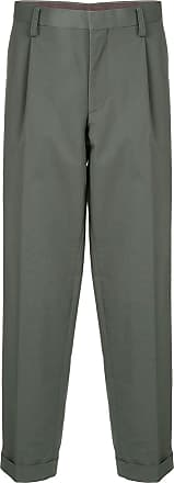 Kolor pleated detail cropped trousers - Green