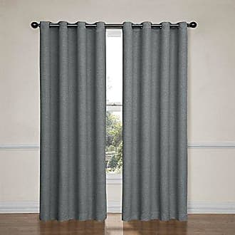 Eclipse Blackout Curtains for Bedroom-Bobbi37 x 63 Insulated Darkening Single Panel Grommet Top Window Treatment Living Room, 37 x 63, Pewter