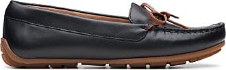 Clarks Womens Black Leather Clarks Dameo Swing Size 9.5