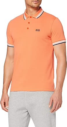 BOSS Mens Paddy Regular Fit Polo Shirt, Bright Orange,Xx-Large
