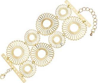 Kitbox Pulseira Círculos com Detalhes Vazados Dourada