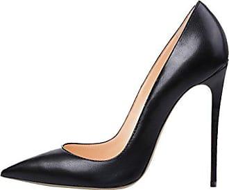 9854fd26b8226b Kolnoo Damen Stiletto High Heels Party Pumps Lack Mode Schuhe Schwarz Größe  EU36
