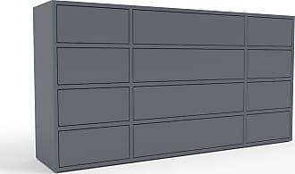 MYCS Kommode Anthrazit - Design-Lowboard: Schubladen in Anthrazit - Hochwertige Materialien - 154 x 80 x 35 cm, Selbst zusammenstellen