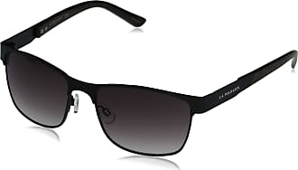 U.S.Polo Association U.S. Polo Assn. Mens PA1010 Metal Rectangular Sunglasses with Polished Wood Grain and Metal Arms & 100% UV Protection, 55 mm