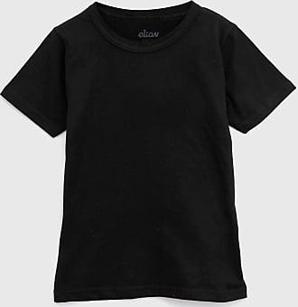 Elian Camiseta Elian Infantil Lisa Preta