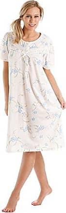 geb/ürstete Baumwolle Blumenmuster Damen-Nachthemd Winceyette
