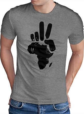 OM3 Peace Africa - T-Shirt Frieden PACE Paix Blood Diamonds Refugees Europe, XL, Heather Grey