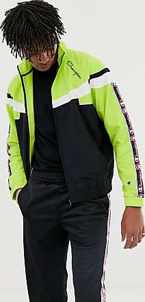 Champion Schwarze Retro-Trainingsjacke mit Zierstreifen