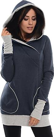 Purpless Maternity 2in1 Pregnancy Nursing Sweatshirt Hoodie Pregnant Breastfeeding Woman Hooded Top 9056 (16, Navy Melange)