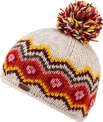 KuSan 100% Wool Multi-Colour Bobble Hat PK1822 (Oatmeal)