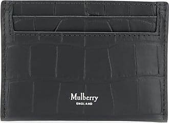 Mulberry Porta-cartões com efeito de pele de crocodilo - Preto