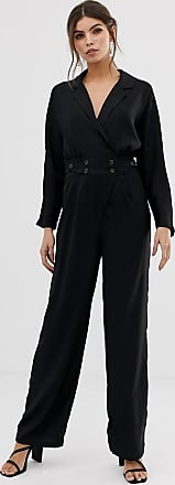 Y.A.S jumpsuit with button waist-Black