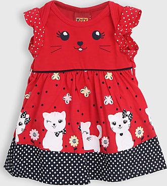 KYLY Vestido Kyly Infantil Gatinho Vermelho
