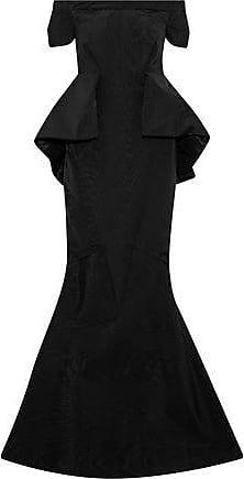 Zac Posen Zac Posen Woman Off-the-shoulder Faille Peplum Gown Black Size 8
